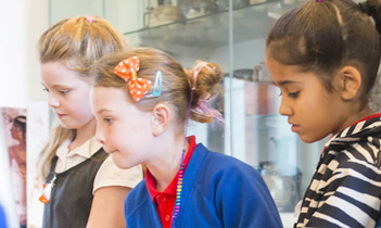 Children at a community open day at The University of Manchester