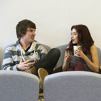 Two students chatting