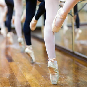 Ballerinas at the barre.