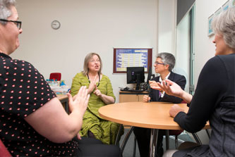 A meeting of the Social Research with Deaf People group at The University of Manchester